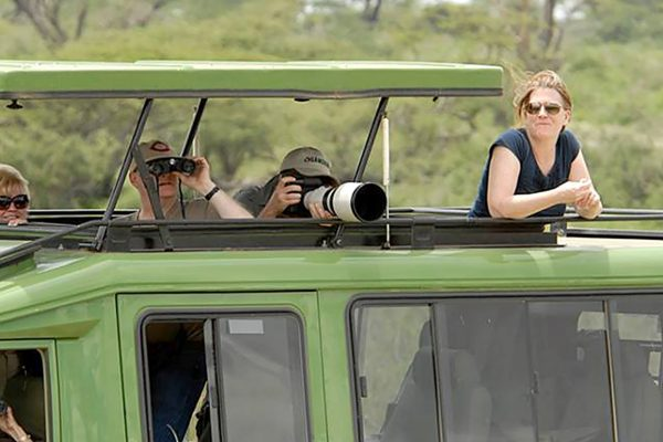Clients during game drive