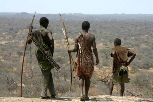 Hadzabe navigating thier area of hunting