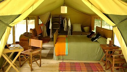 A high class tented lodge